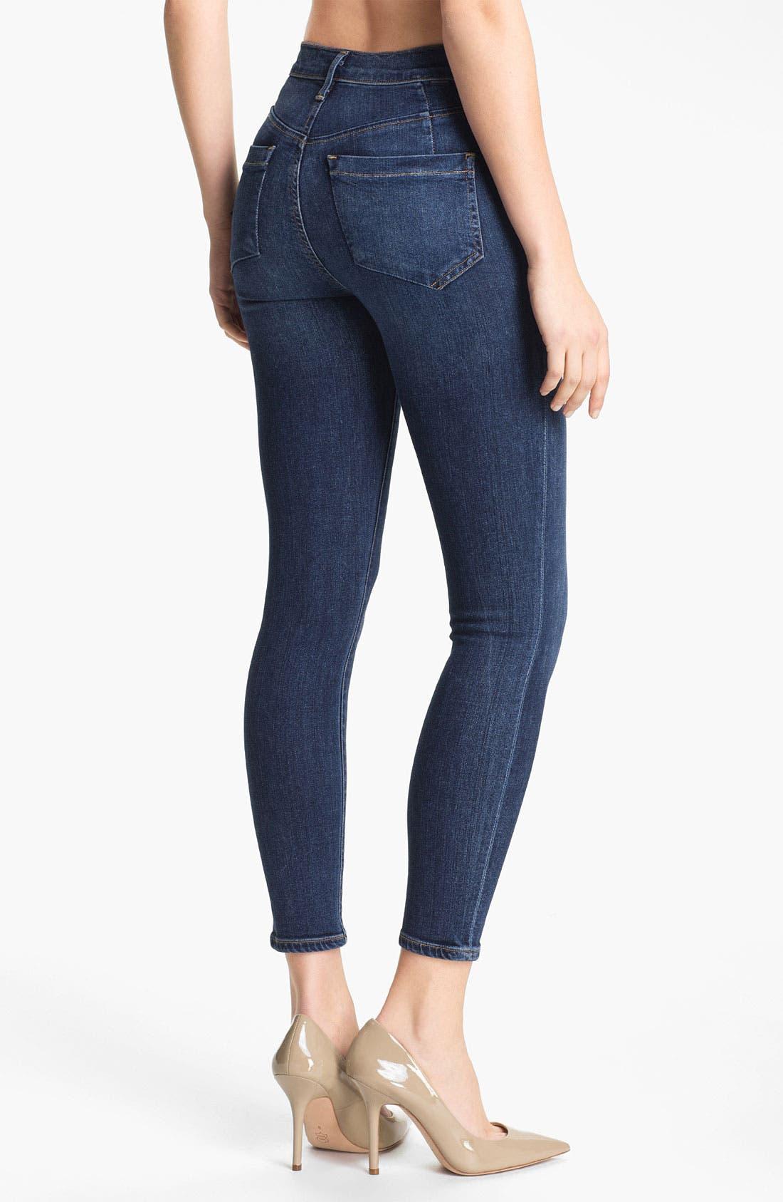 Alternate Image 2  - Goldsign 'Virtual' Crop Skinny Stretch Jeans (Zagir)
