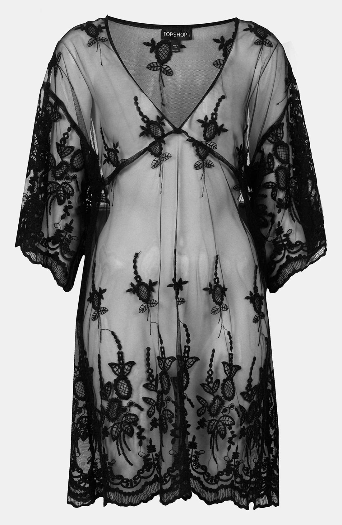 Alternate Image 1 Selected - Topshop Sheer Lace Cover-Up