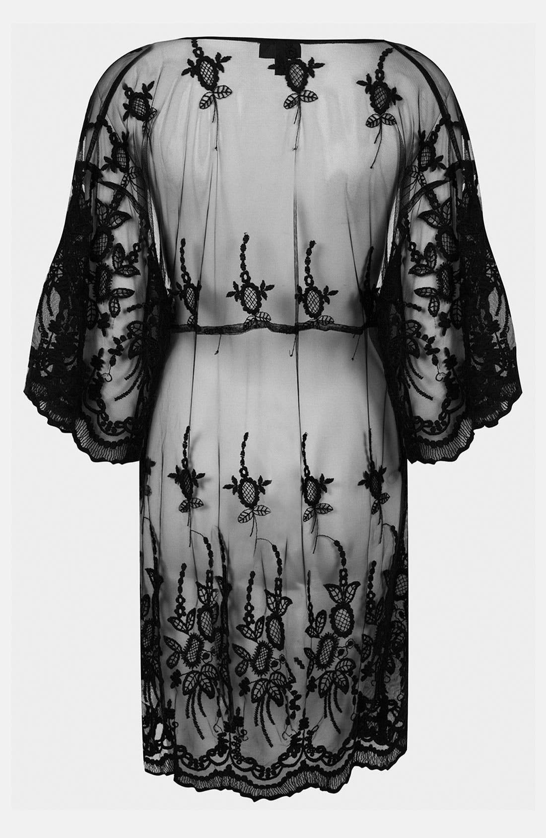Alternate Image 2  - Topshop Sheer Lace Cover-Up