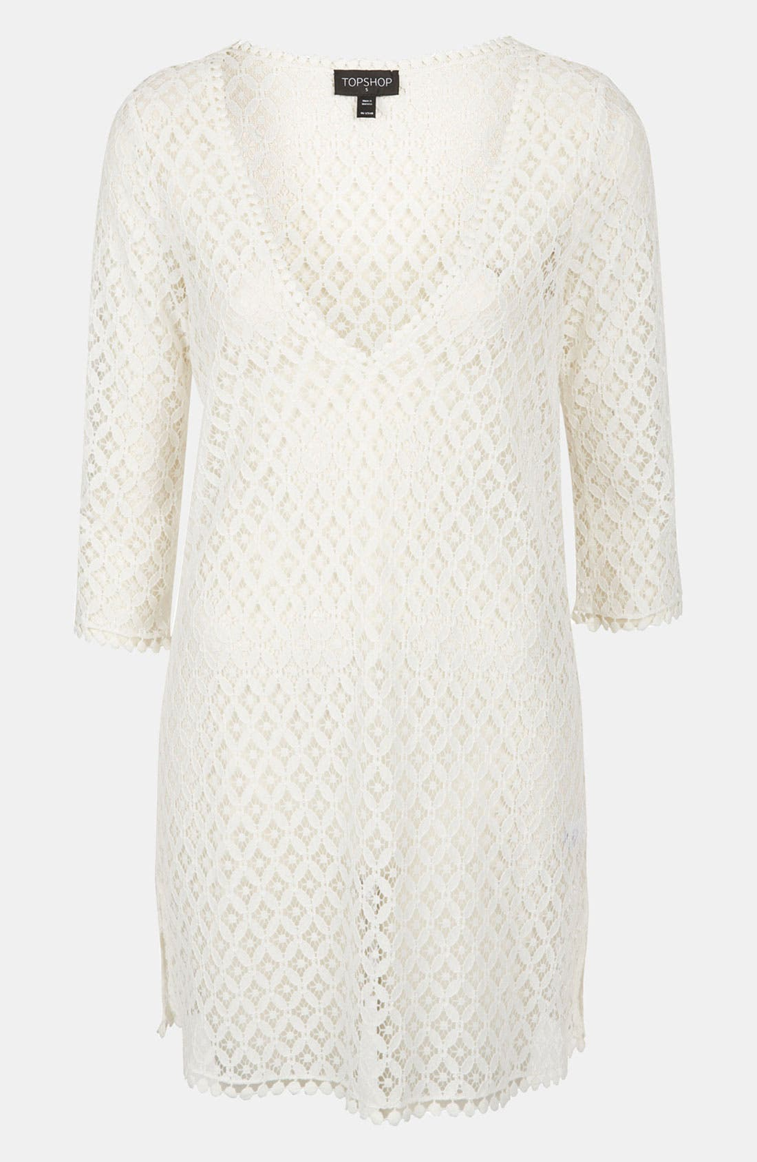 Alternate Image 1 Selected - Topshop 'Lizzie' Lace Cover-Up