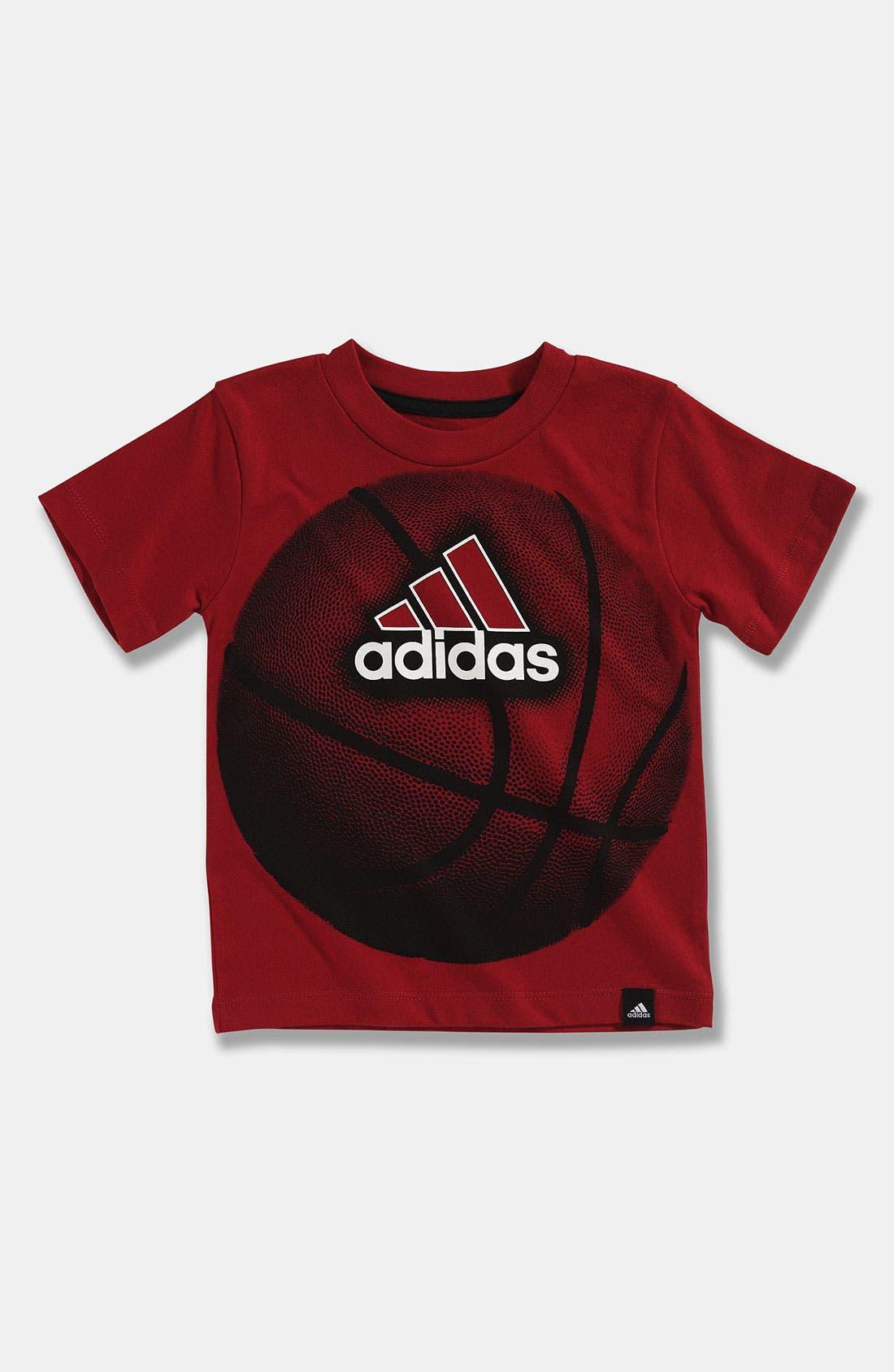 Main Image - adidas 'Big Ball' T-Shirt (Toddler)