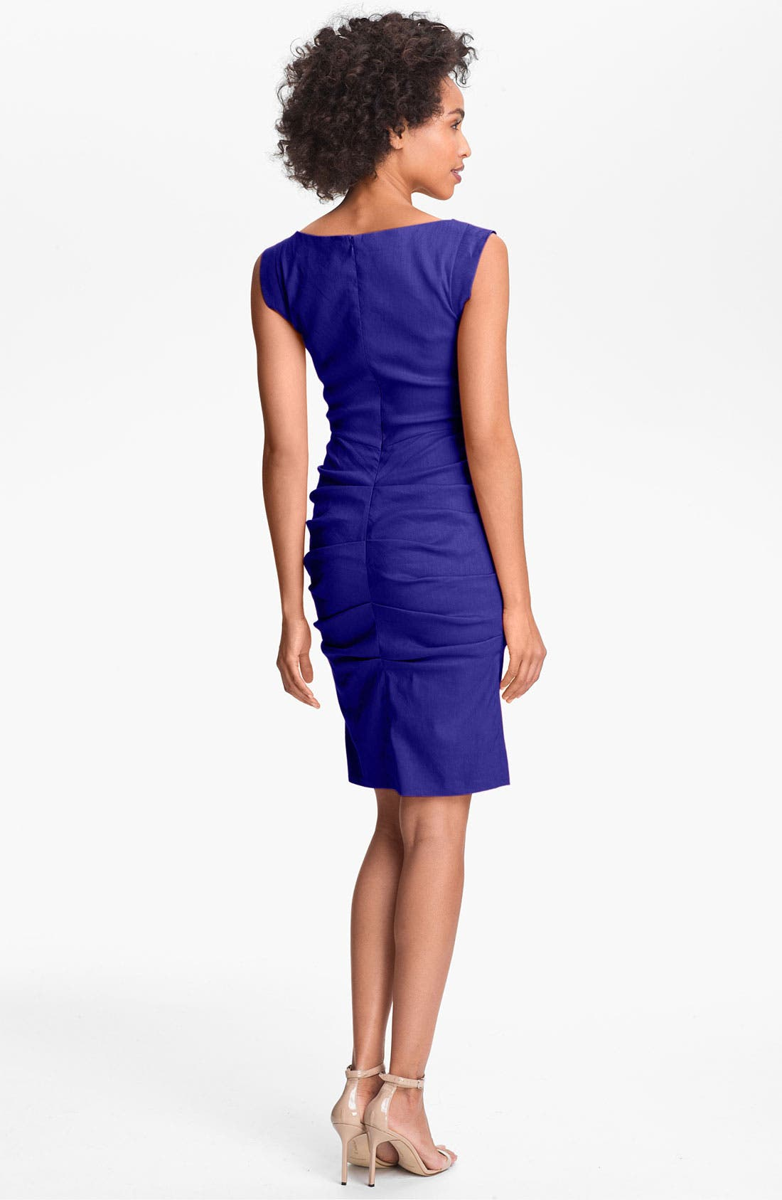 Alternate Image 2  - Nicole Miller Ruched Surplice Sheath Dress