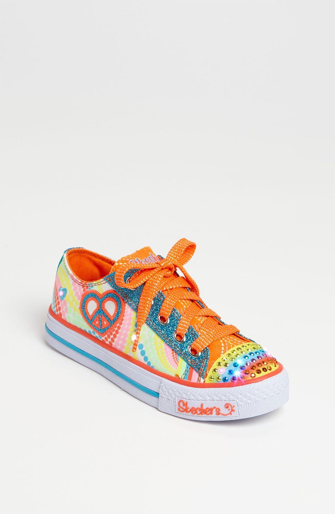 Main Image - SKECHERS 'Shuffles - Lights Heart Sparks' Sneaker (Walker, Toddler & Little Kid)