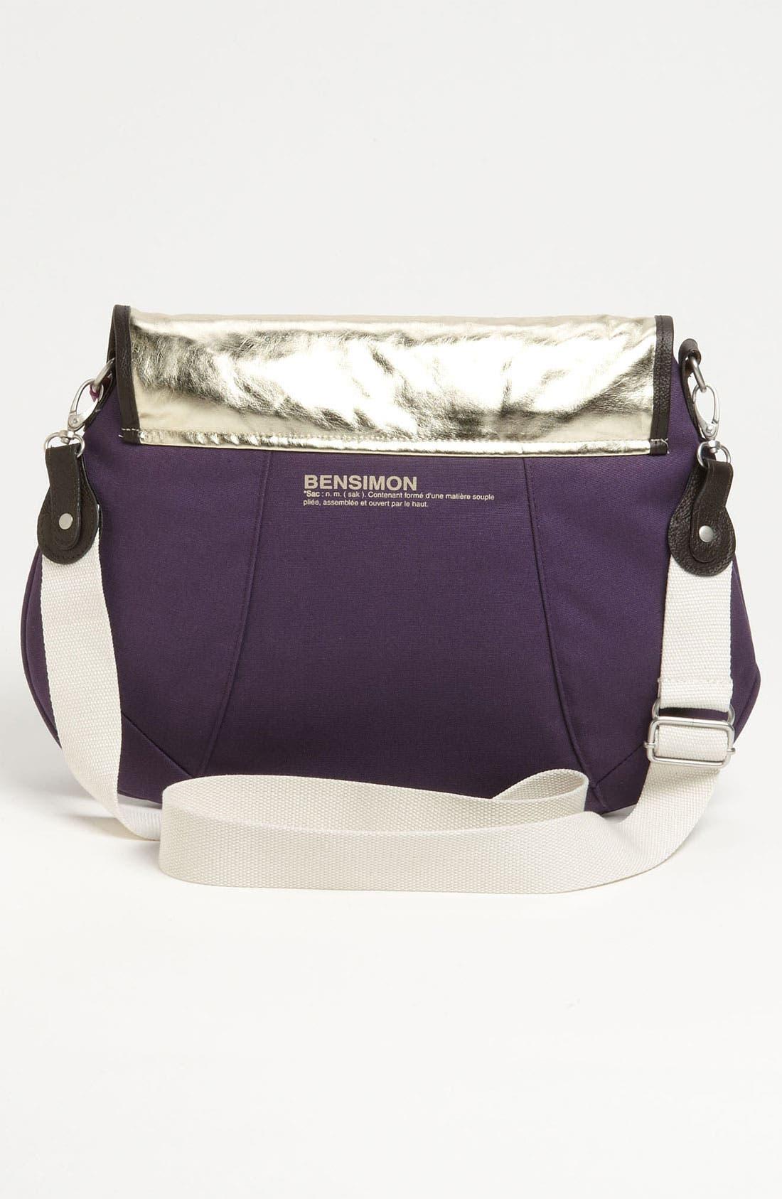 Alternate Image 4  - Bensimon 'Gold Sheen' Crossbody Bag