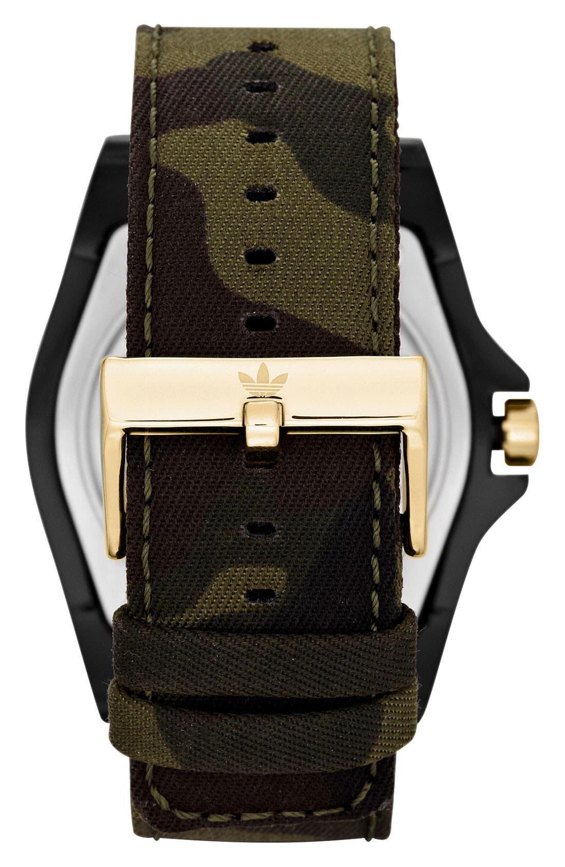 Alternate Image 3  - adidas Originals 'Stockholm' Camo Strap Watch, 45mm