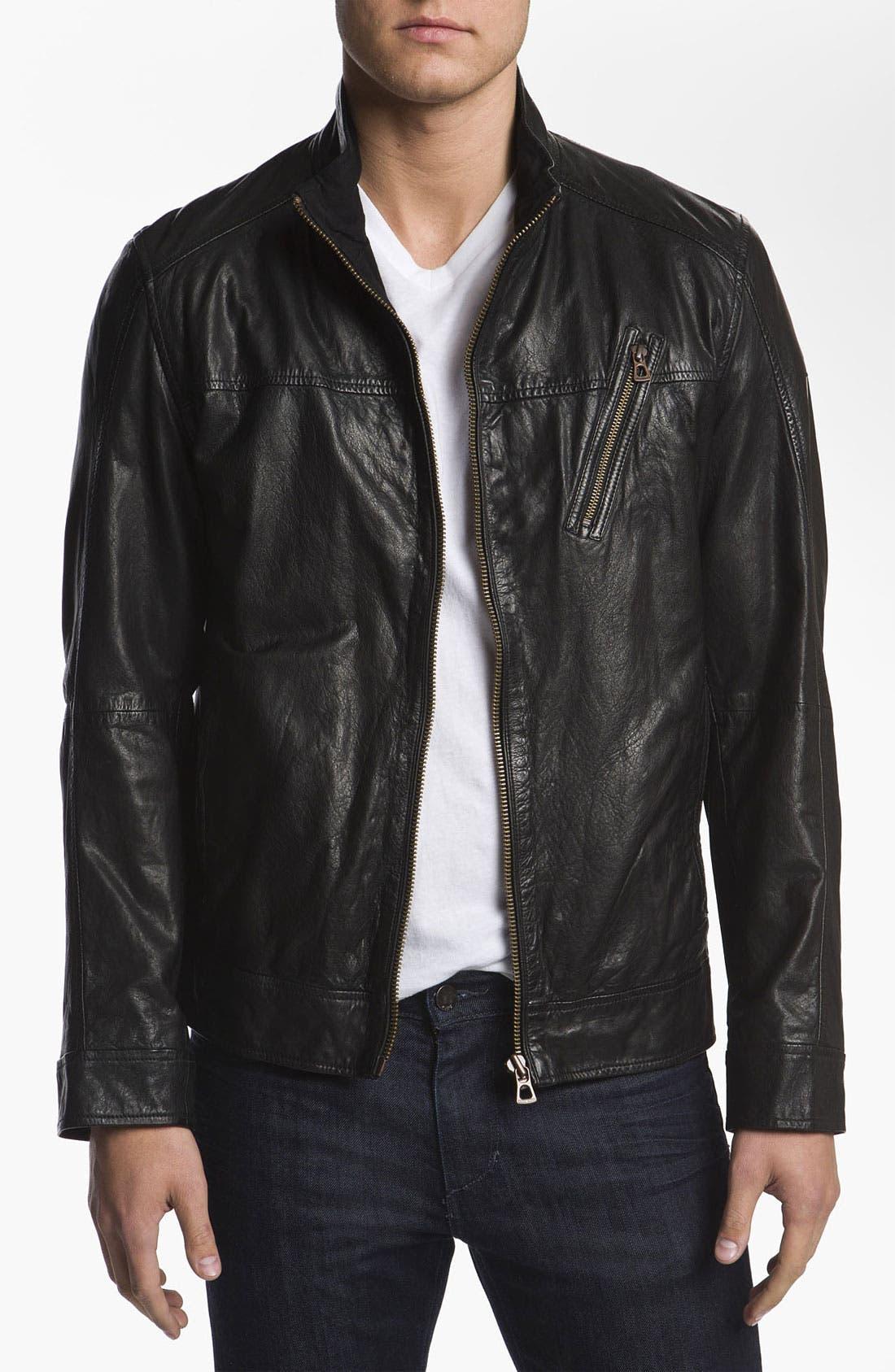 Main Image - BOSS Orange 'Jips1' Leather Jacket