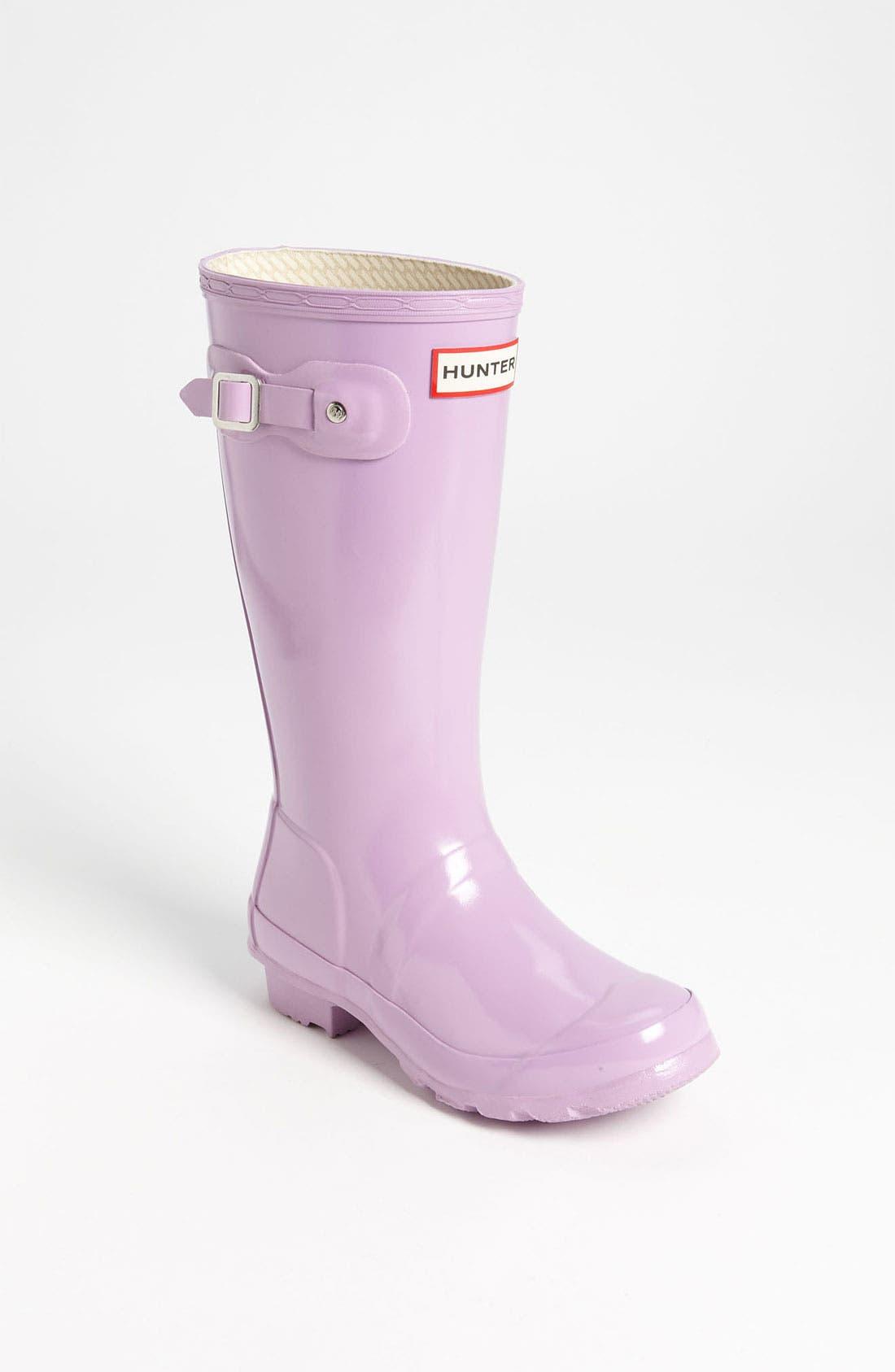 Main Image - Hunter 'Original Gloss' Rain Boot (Little Kid & Big Kid)(Nordstrom Exclusive Color)