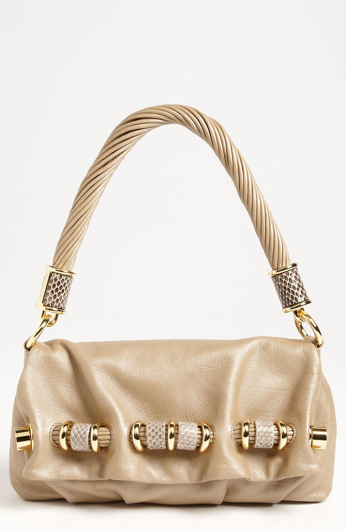 Alternate Image 1 Selected - Michael Kors 'Tonne - Small' Calfskin Leather Shoulder Bag