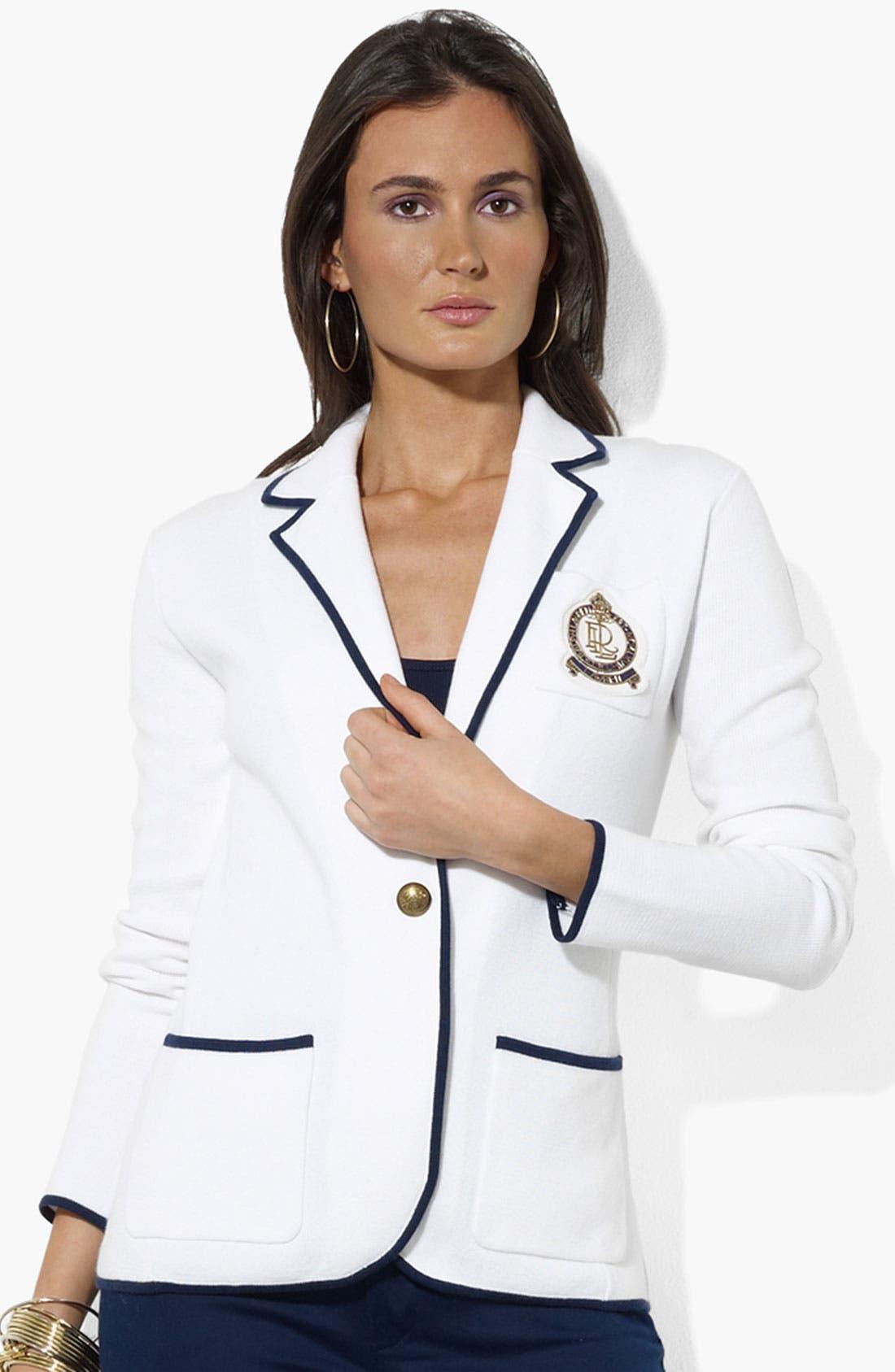 Alternate Image 1 Selected - Lauren Ralph Lauren Crest Pocket Blazer