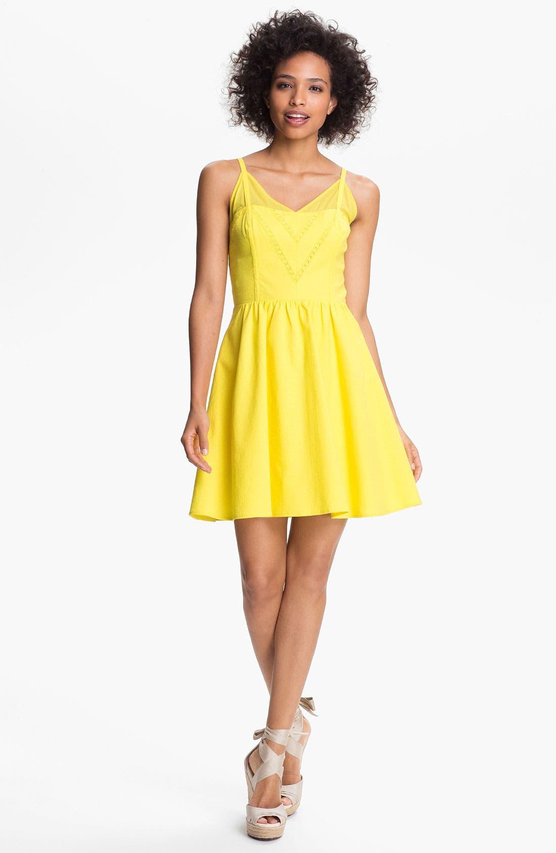 Main Image - Jessica Simpson V-Neck Fit & Flare Dress