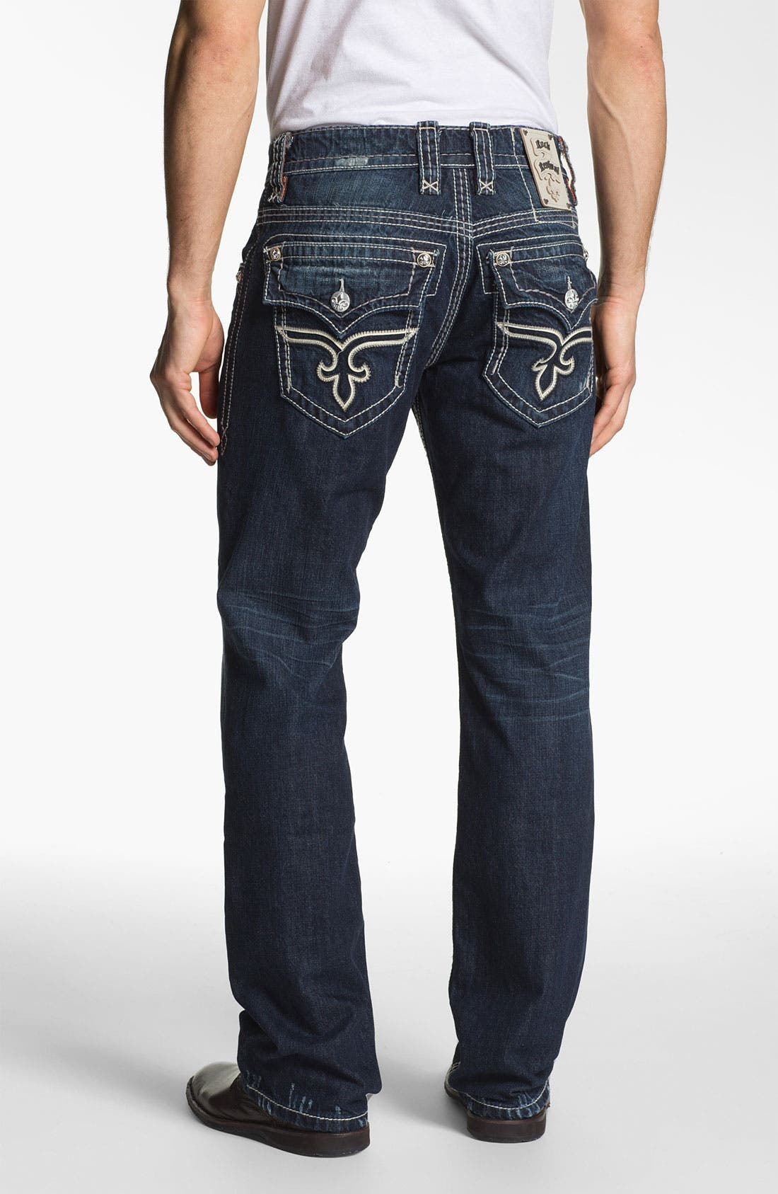 Main Image - Rock Revival 'Alec' Straight Leg Jeans (Dark Blue)