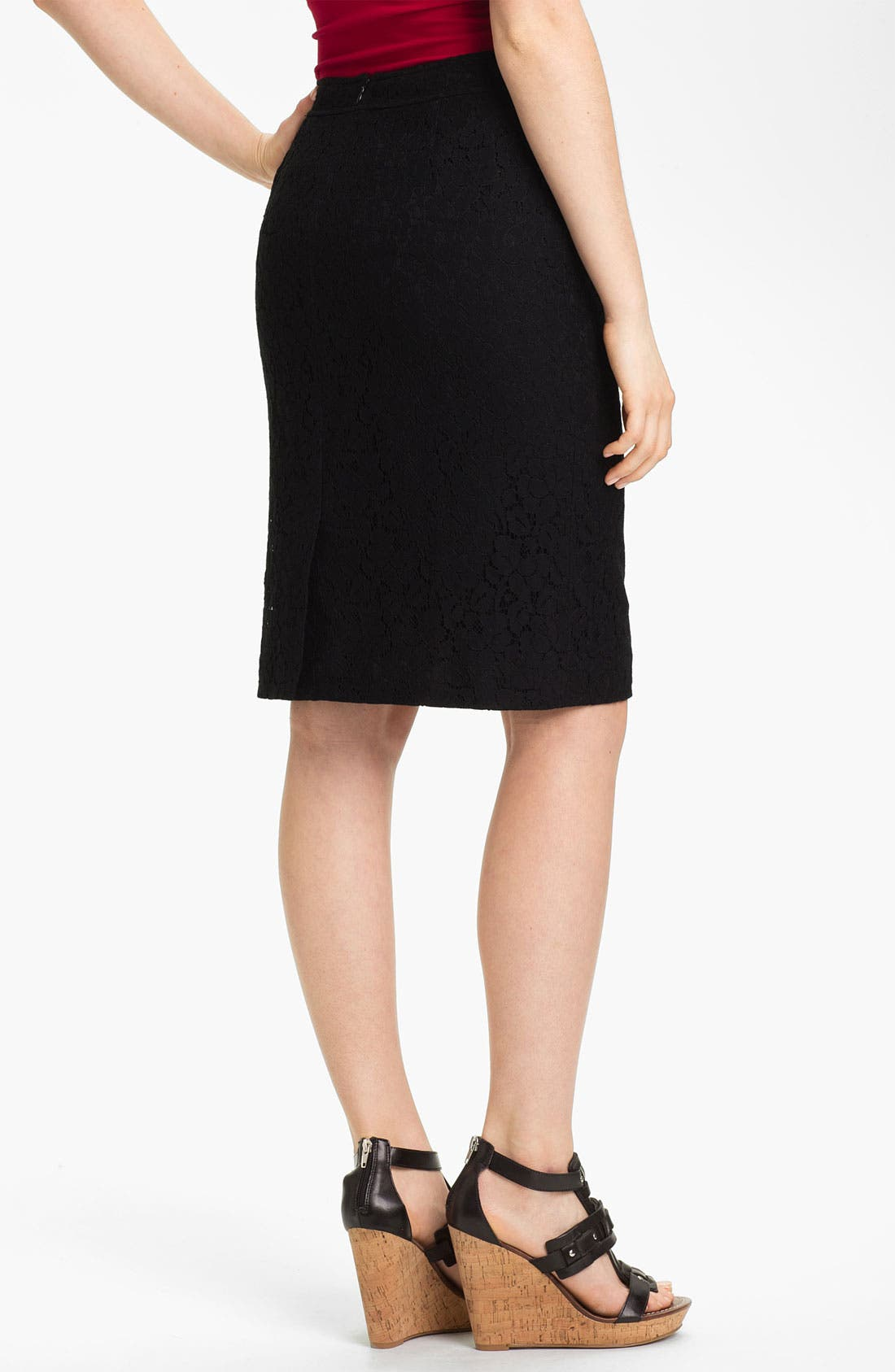 Alternate Image 2  - Halogen® Lace Pencil Skirt