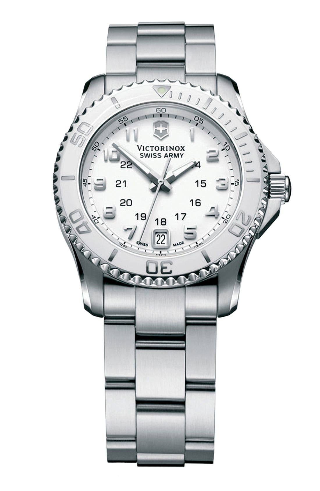 Alternate Image 1 Selected - Victorinox Swiss Army® 'Maverick GS' Bracelet Watch, 34mm