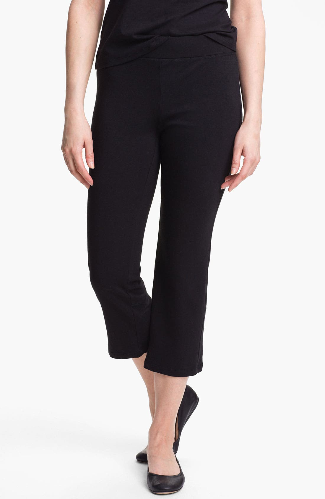 Alternate Image 1 Selected - Eileen Fisher Crop Yoga Pants