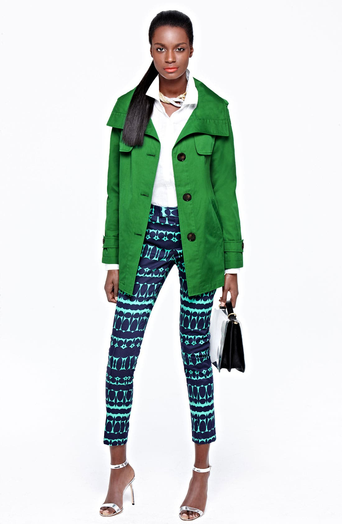 Alternate Image 5  - Ellen Tracy Stand Collar A-Line Jacket (Nordstrom Exclusive)