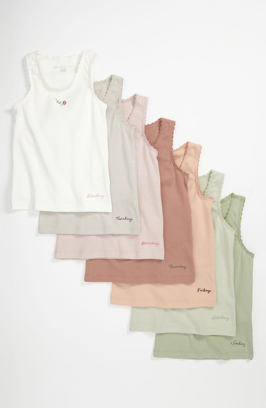 Main Image - Stella McCartney Kids 'Clementina' Tank Top (Set of 7) (Toddler, Little Girls & Big Girls)