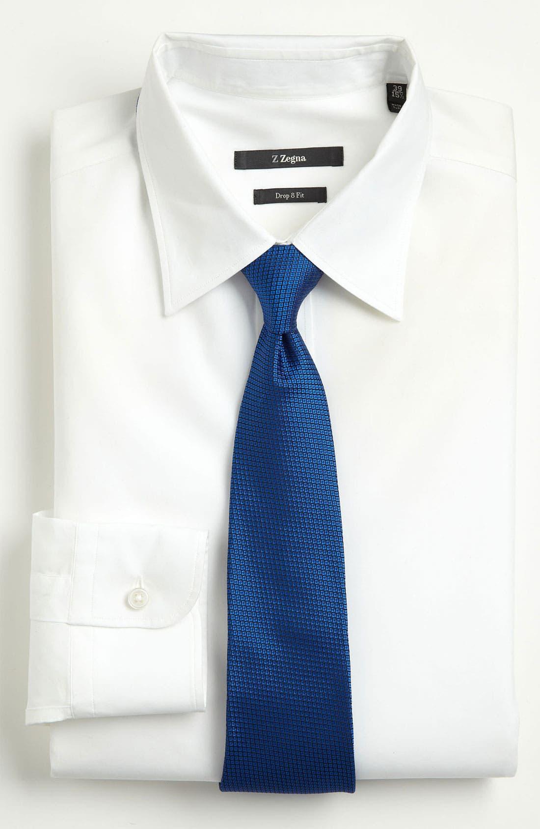 Alternate Image 2  - Z Zegna Bird's Eye Silk Woven Tie