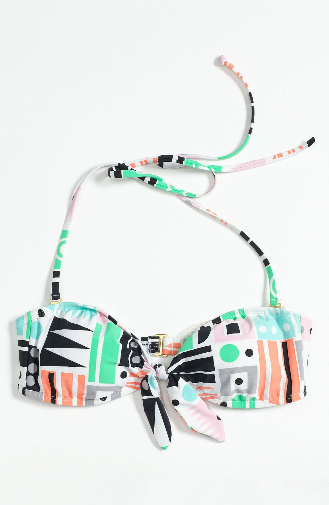 Alternate Image 6  - 'DVF Loves Roxy' Knotted Bandeau Bikini Top