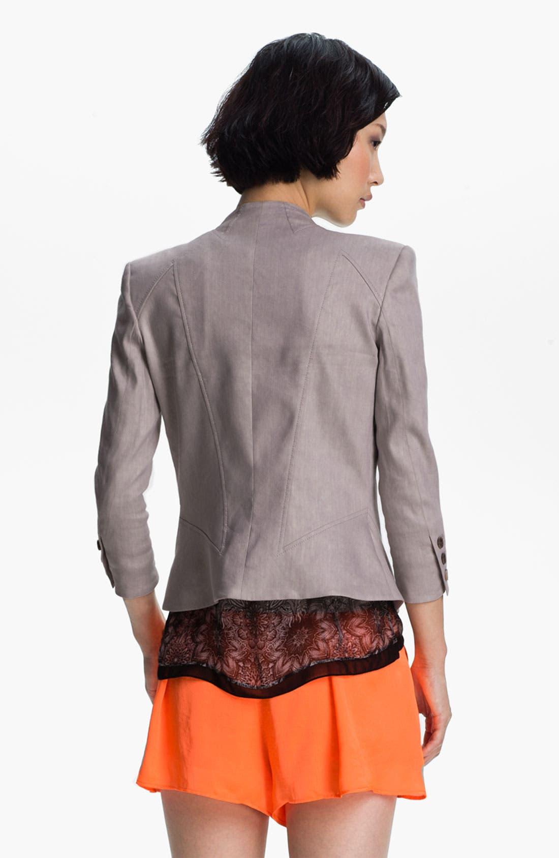 Alternate Image 3  - Helmut Lang 'Glossy' Linen Twill Blazer