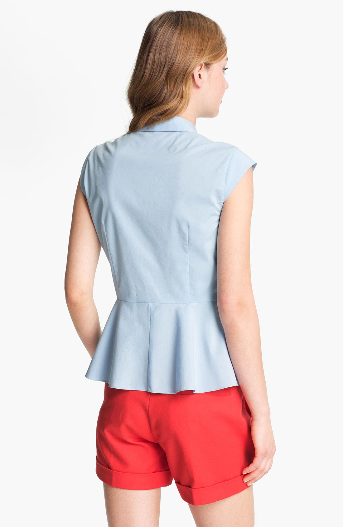 Alternate Image 2  - Vince Camuto Cap Sleeve Peplum Blouse