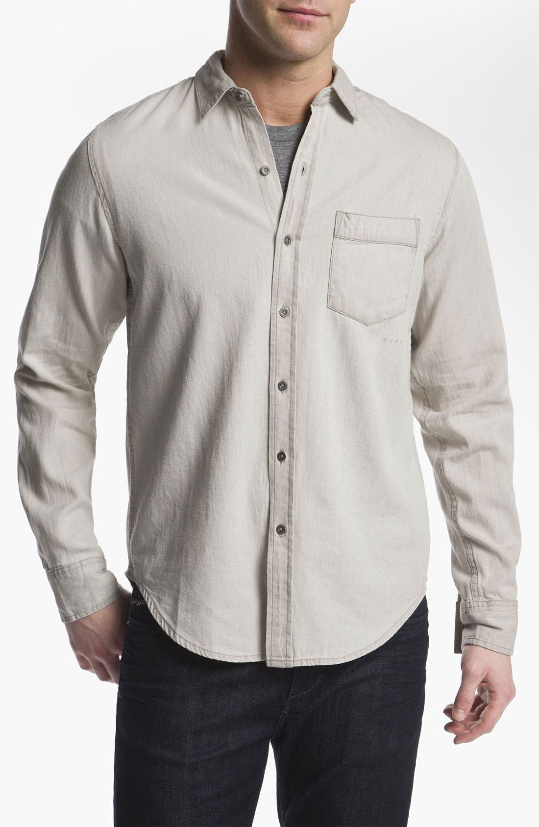 Alternate Image 1 Selected - RVCA 'Bleach' Slim Fit Sport Shirt