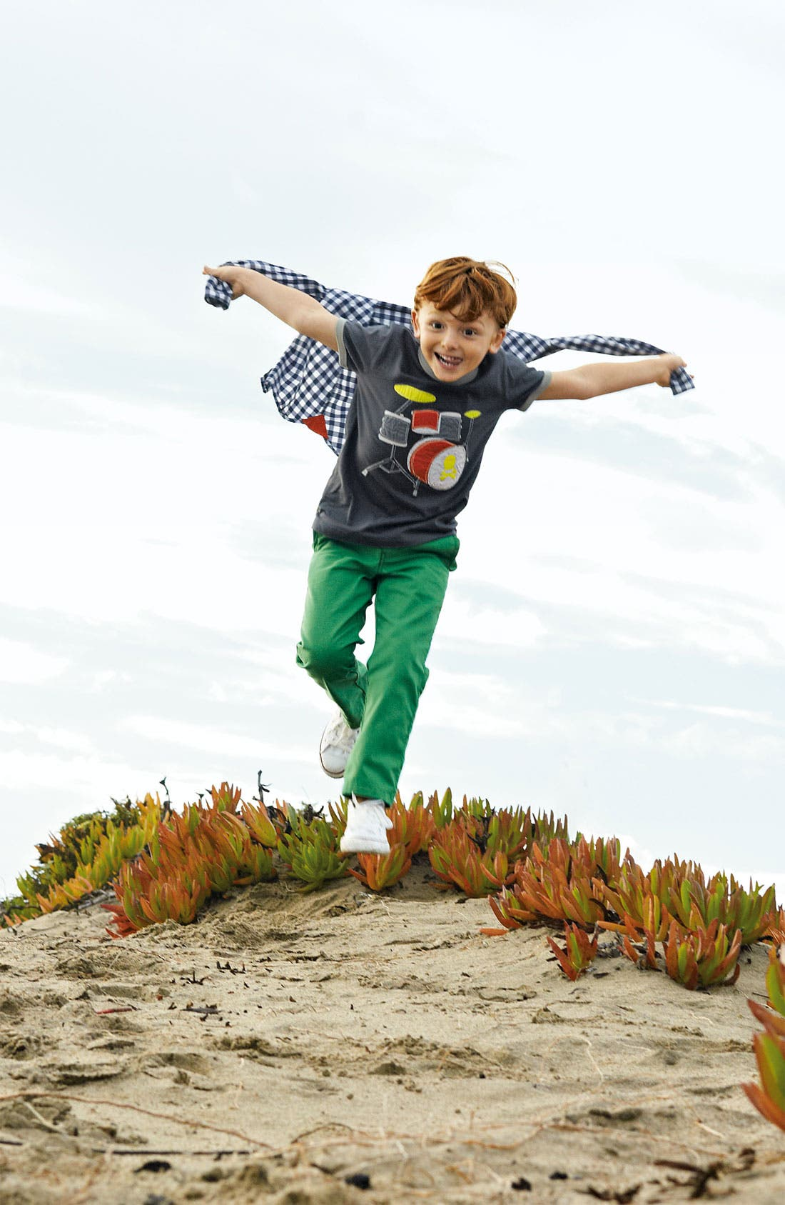 Main Image - Mini Boden T-Shirt, Woven Shirt & Chinos (Toddler, Little Boys & Big Boys)
