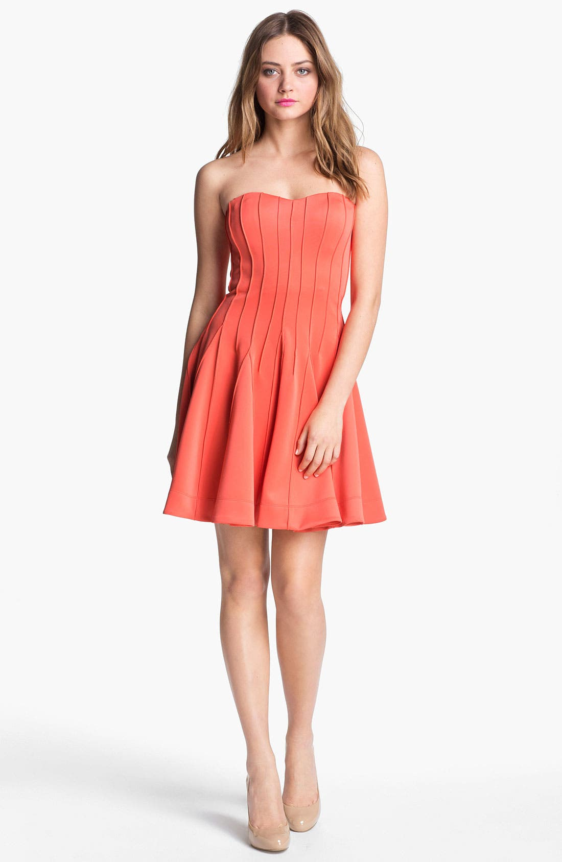 Alternate Image 1 Selected - Betsey Johnson Seamed Fit & Flare Dress