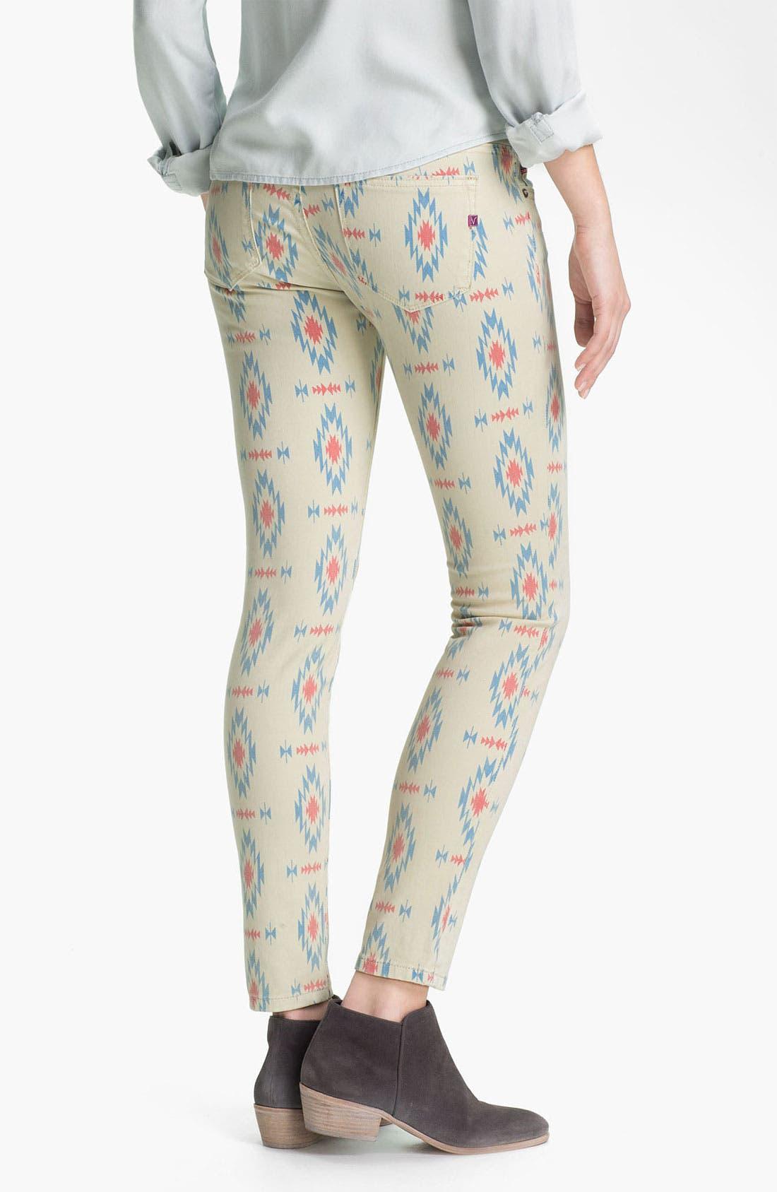 Alternate Image 1 Selected - Vigoss Print Skinny Jeans (Juniors)