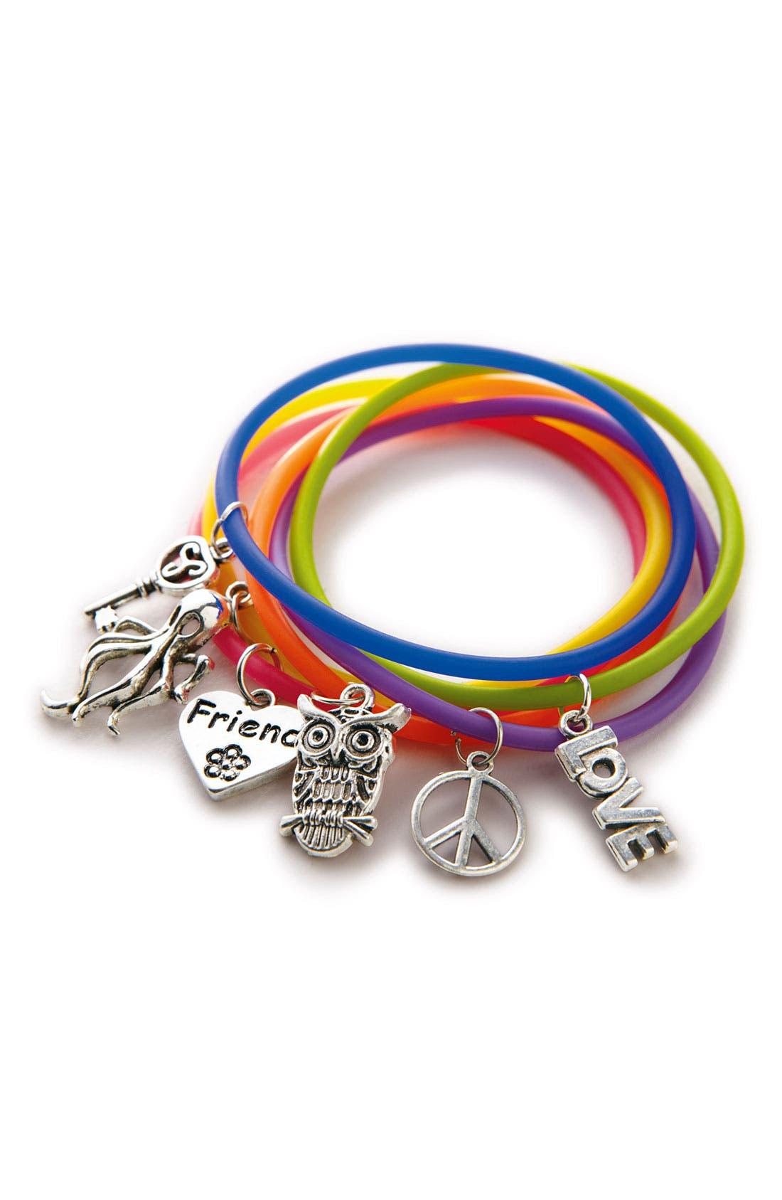 Alternate Image 2  - Rolf Bleu Jelly Charm Bracelet (Girls)