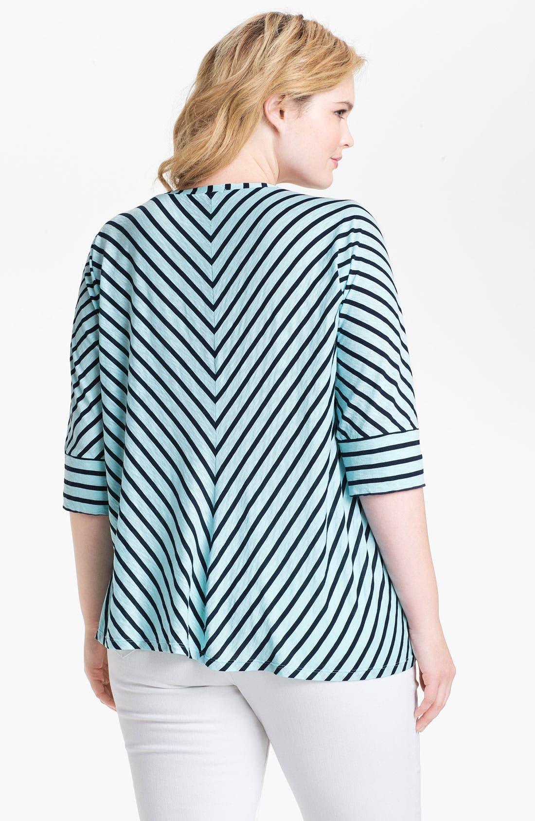 Alternate Image 2  - Splendid 'Miami' Stripe Cotton Top (Plus)