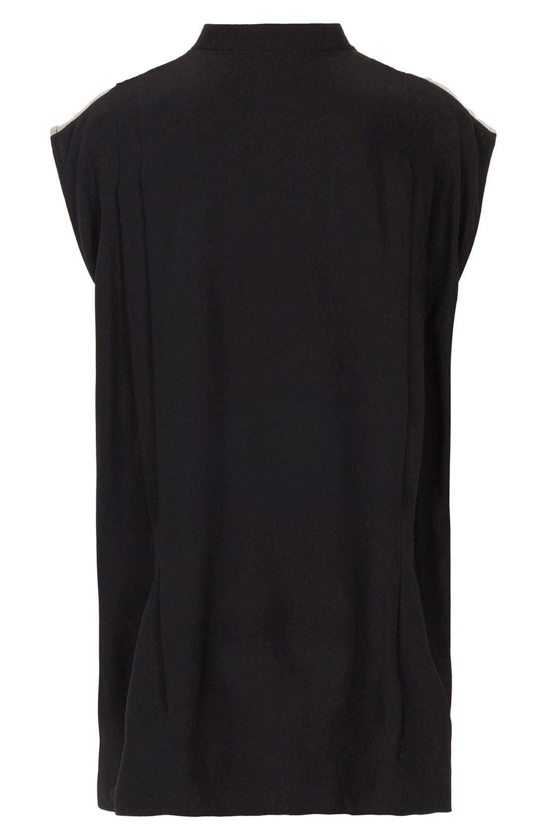 Alternate Image 3  - Topshop Unique Oversized Silk Devore Shirt