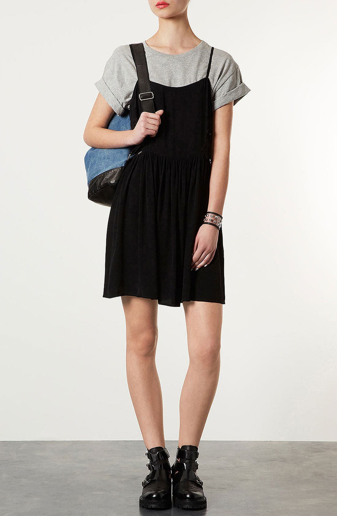 Main Image - Topshop Side Crochet Sundress