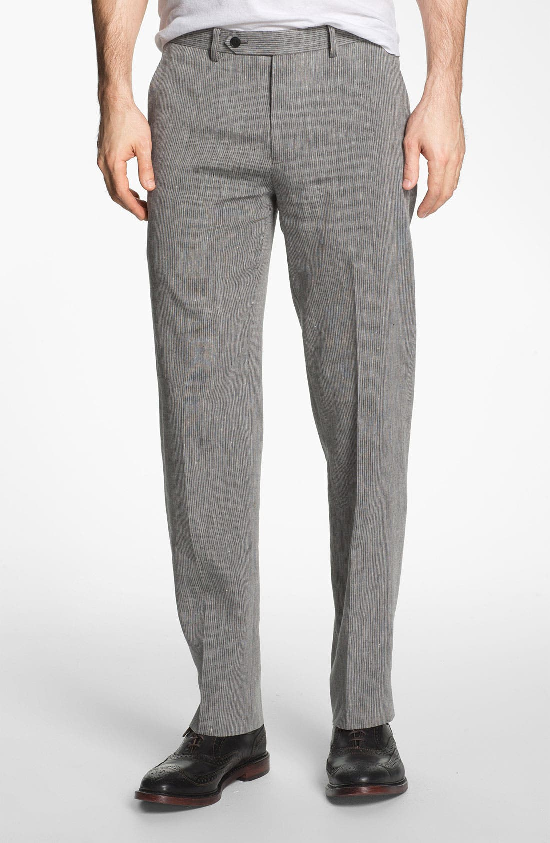 Alternate Image 1 Selected - John Varvatos Star USA Red Label 'Petro' Flat Front Trousers