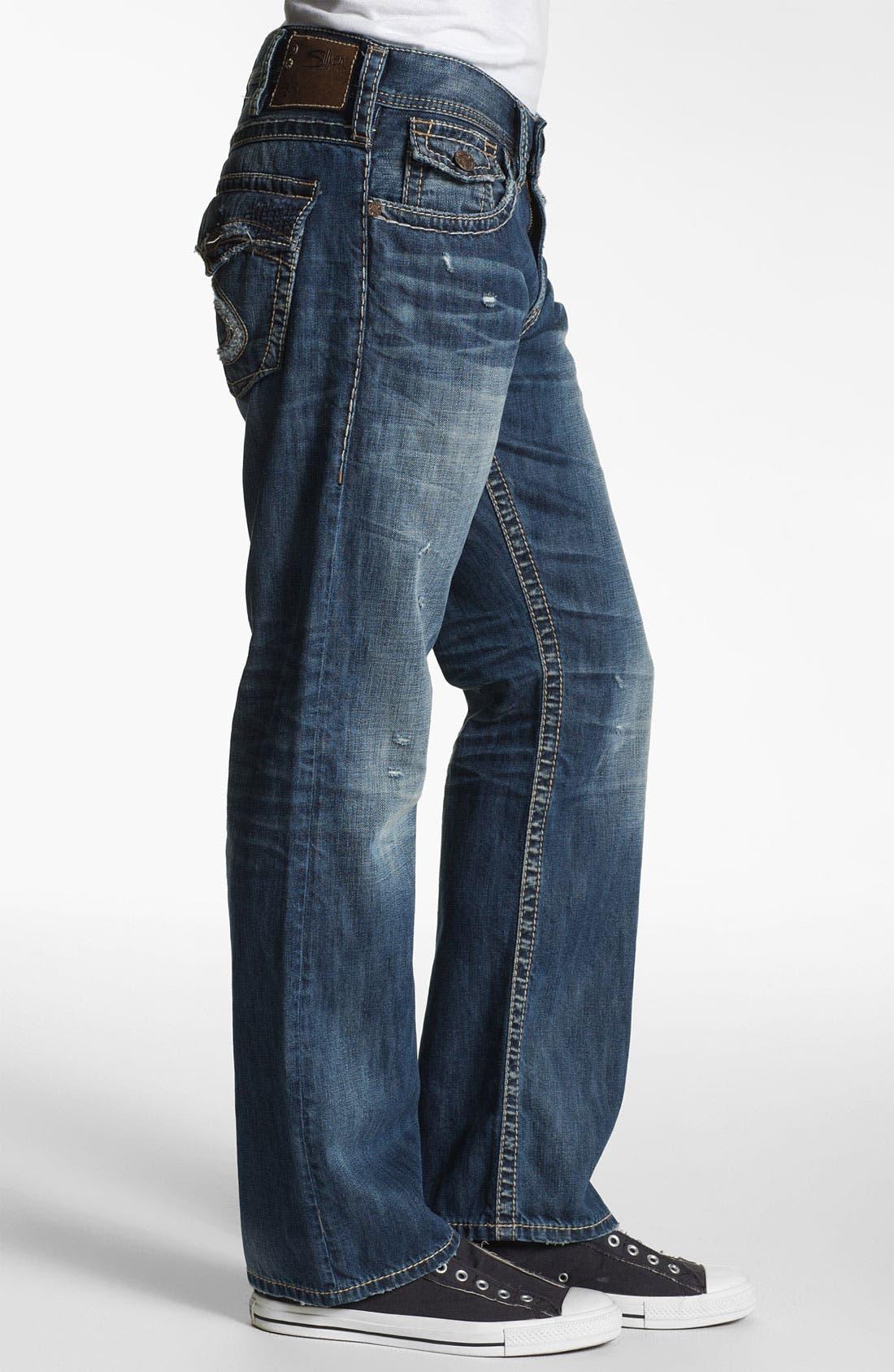 Alternate Image 3  - Silver Jeans Co. 'Zac' Straight Leg Jeans (Indigo)