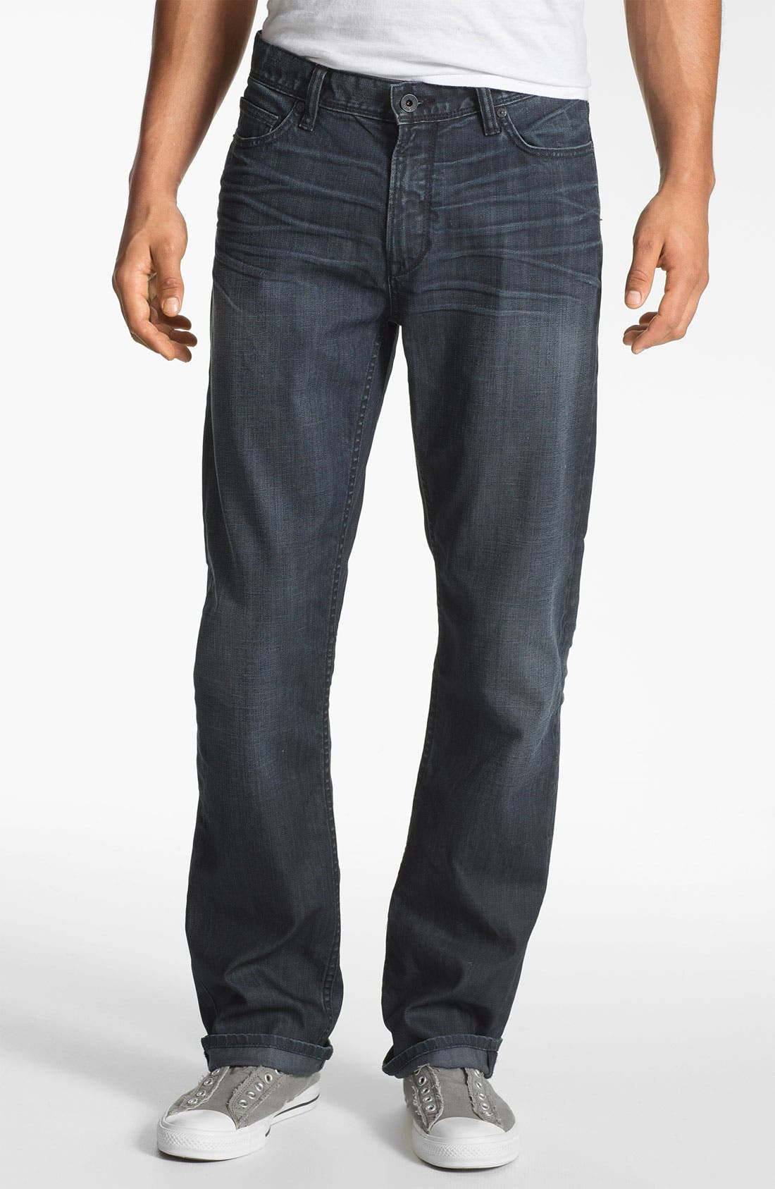 Alternate Image 1 Selected - John Varvatos Star USA 'Authentic' Straight Leg Jeans (Storm Wash)