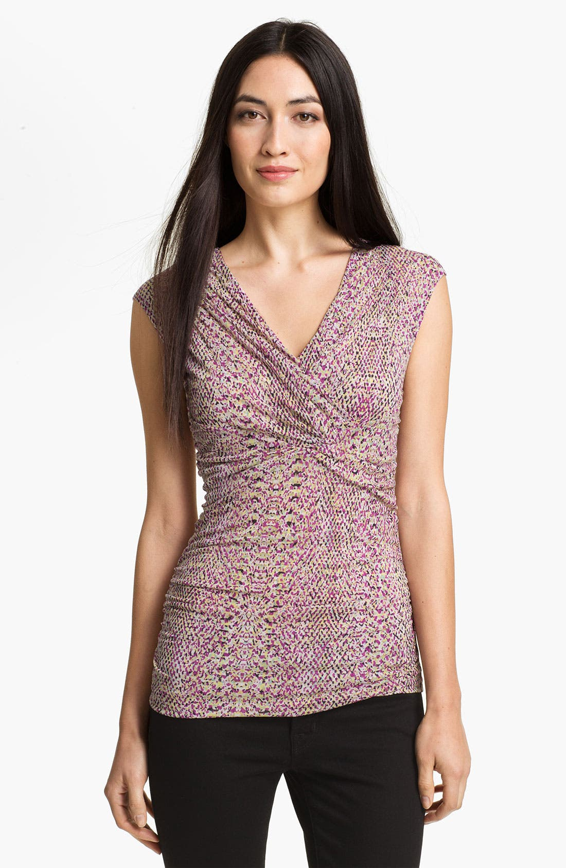 Alternate Image 1 Selected - Classiques Entier Silk Blend Mesh Top