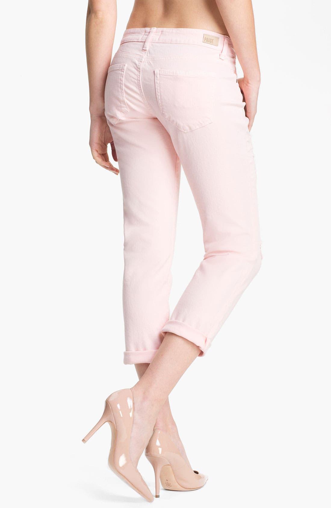 Alternate Image 2  - Paige Denim 'James' Destroyed Crop Jeans (Blossom Deconstruction)