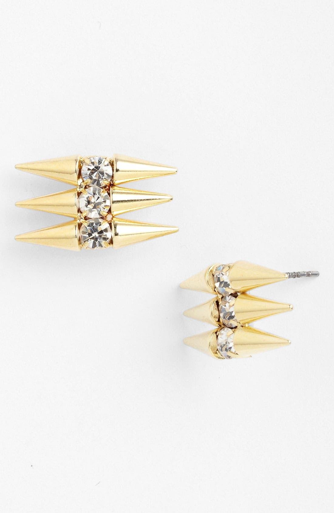 Alternate Image 1 Selected - Panacea 'Crystal Spike' Stud Earrings