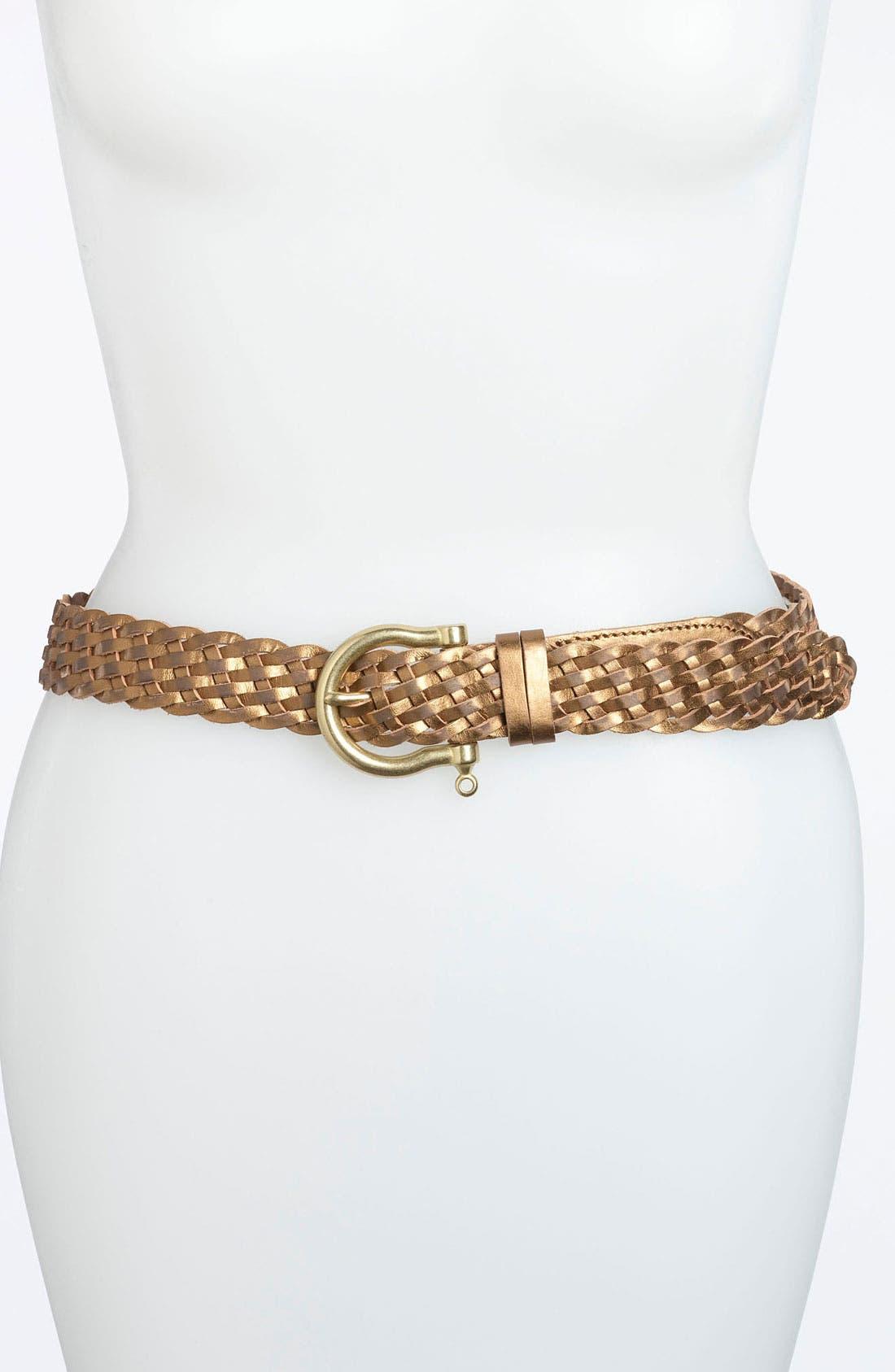 Alternate Image 1 Selected - Sperry Top-Sider® Metallic Braided Belt