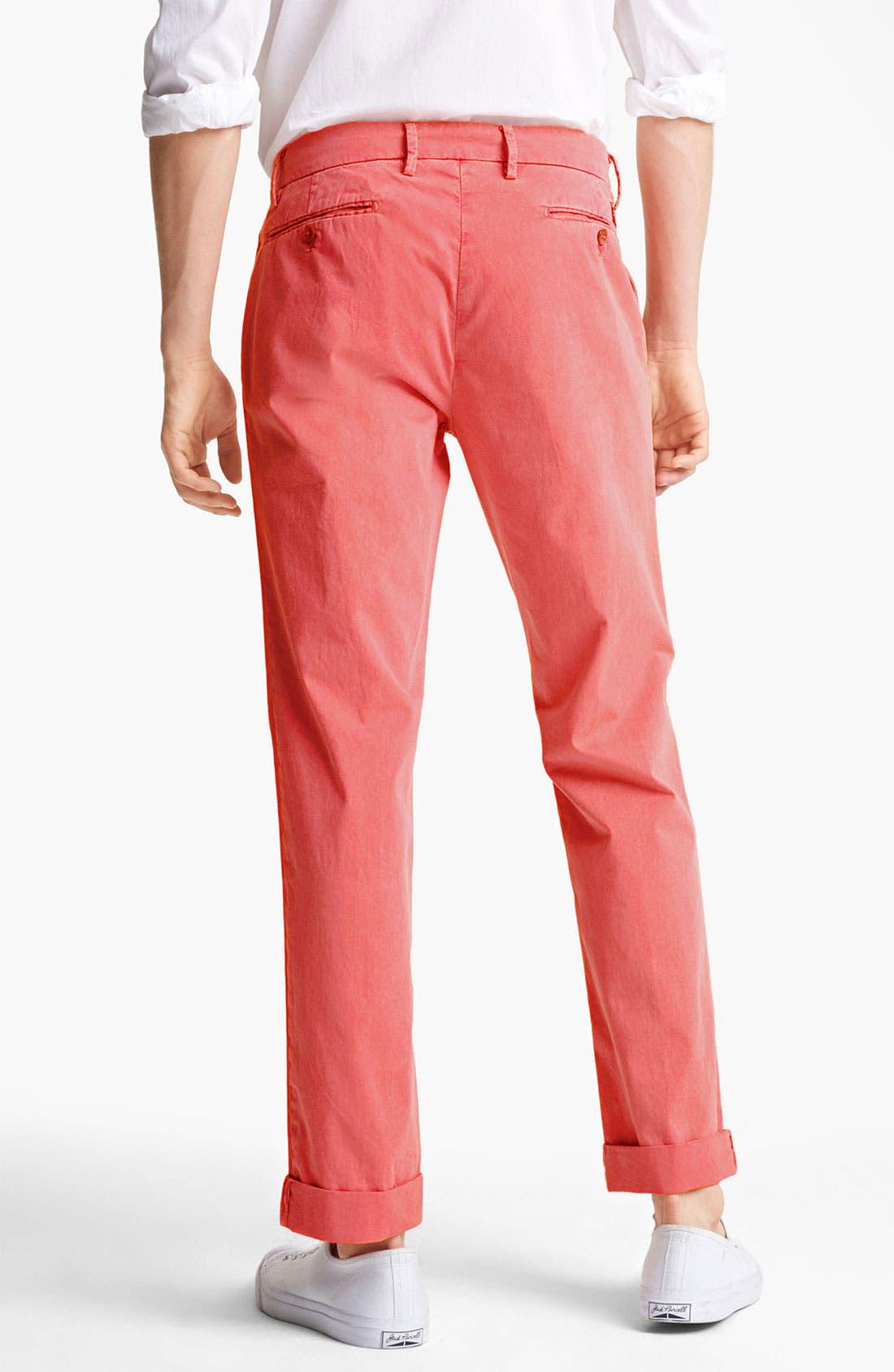 Alternate Image 2  - Mason's New York Fit Cotton Chinos