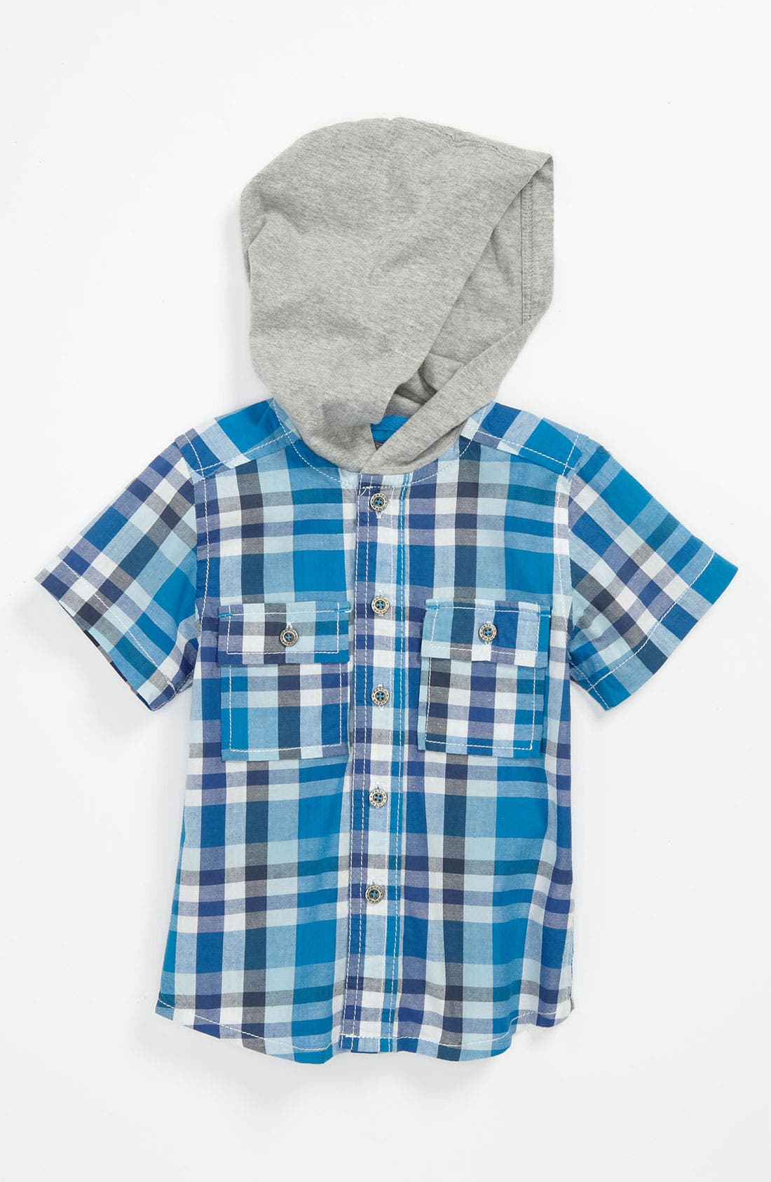 Main Image - Pumpkin Patch Hooded Shirt (Baby)