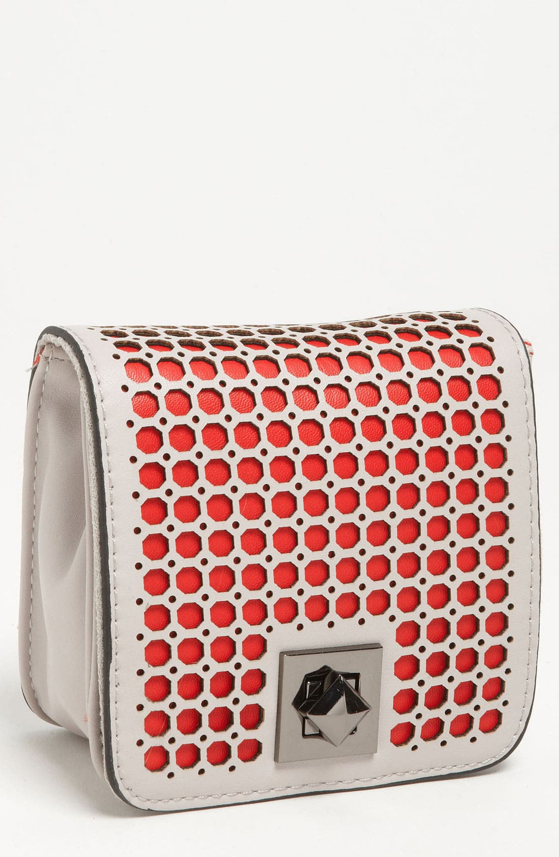 Main Image - POVERTY FLATS by rian Perforated Mini Clutch