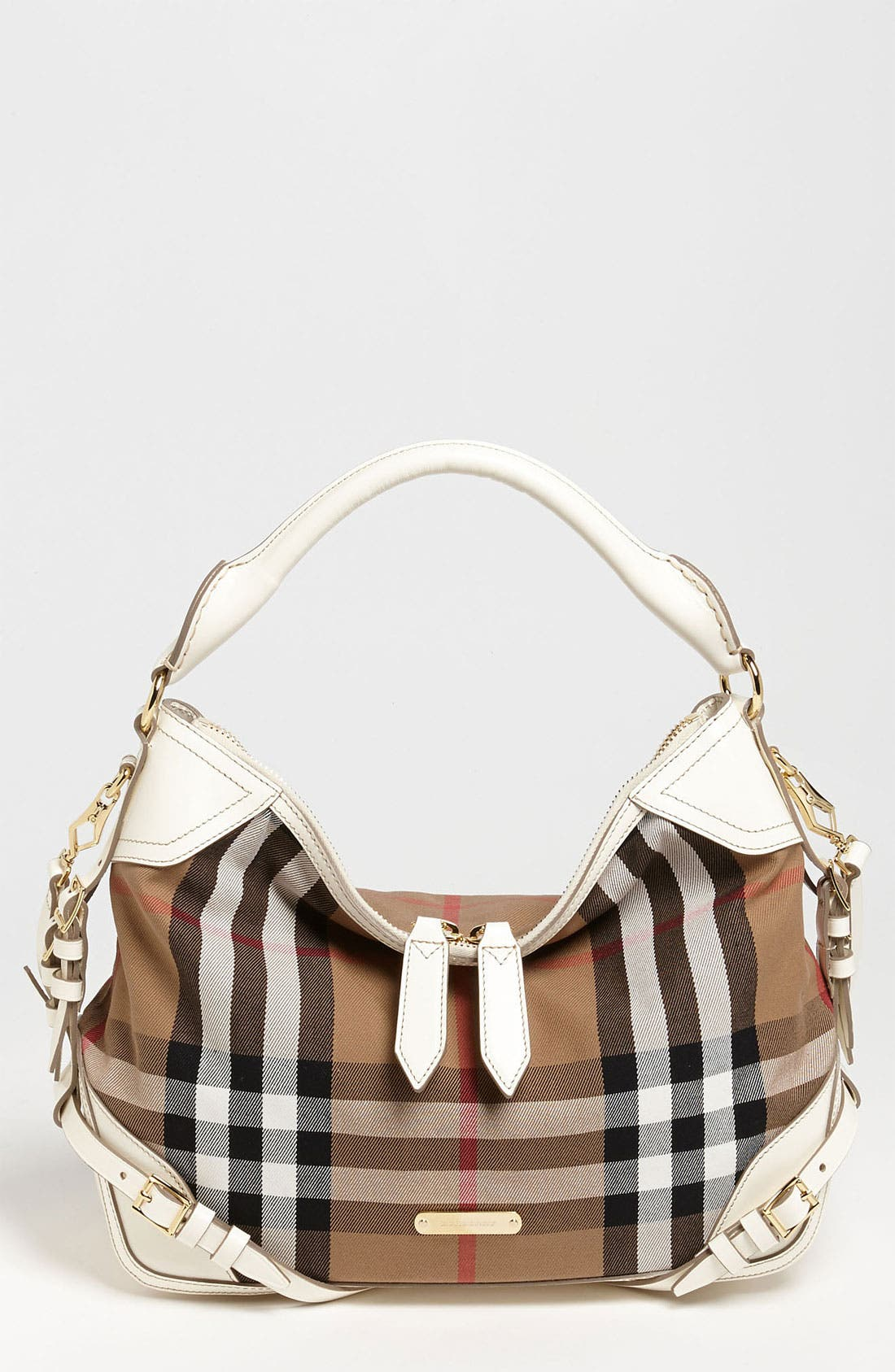 Alternate Image 1 Selected - Burberry 'House Check - Small' Hobo