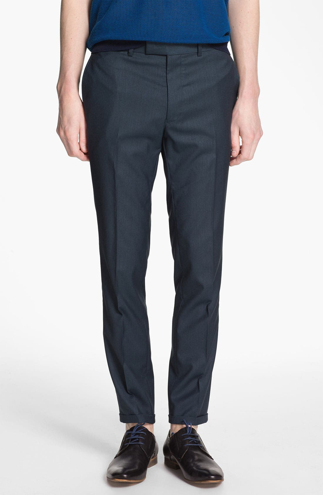 Main Image - Topman Ultra Skinny Fit Trousers