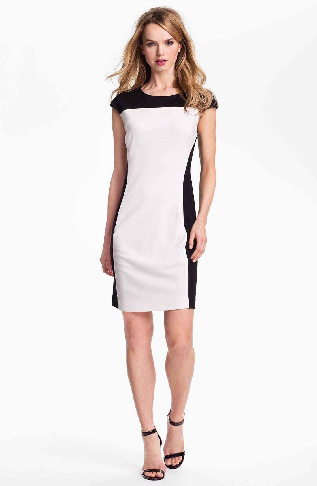 Main Image - Vince Camuto Colorblock Ponte Sheath Dress