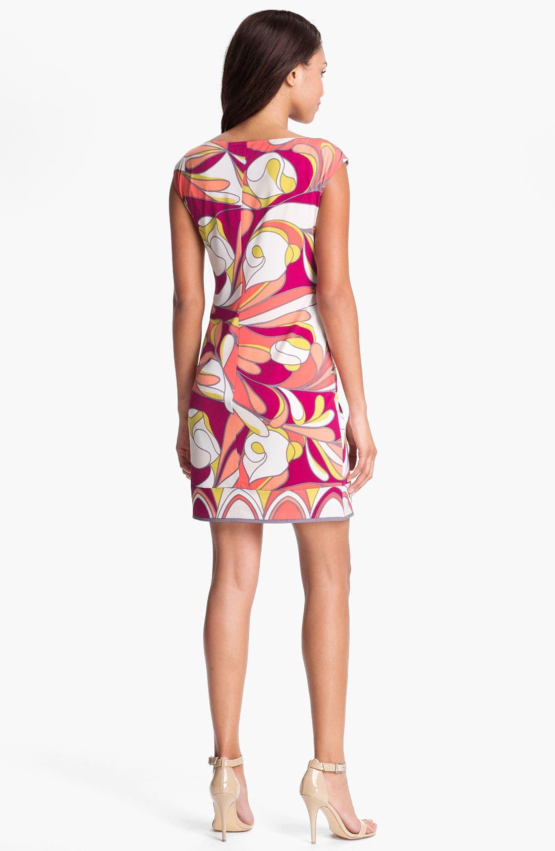 Alternate Image 2  - Donna Morgan Print Jersey Sheath Dress