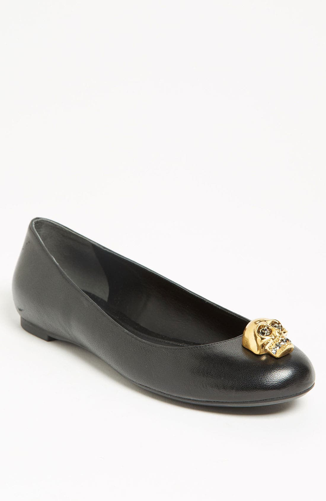 Alternate Image 1 Selected - Alexander McQueen Skull Ballet Flat