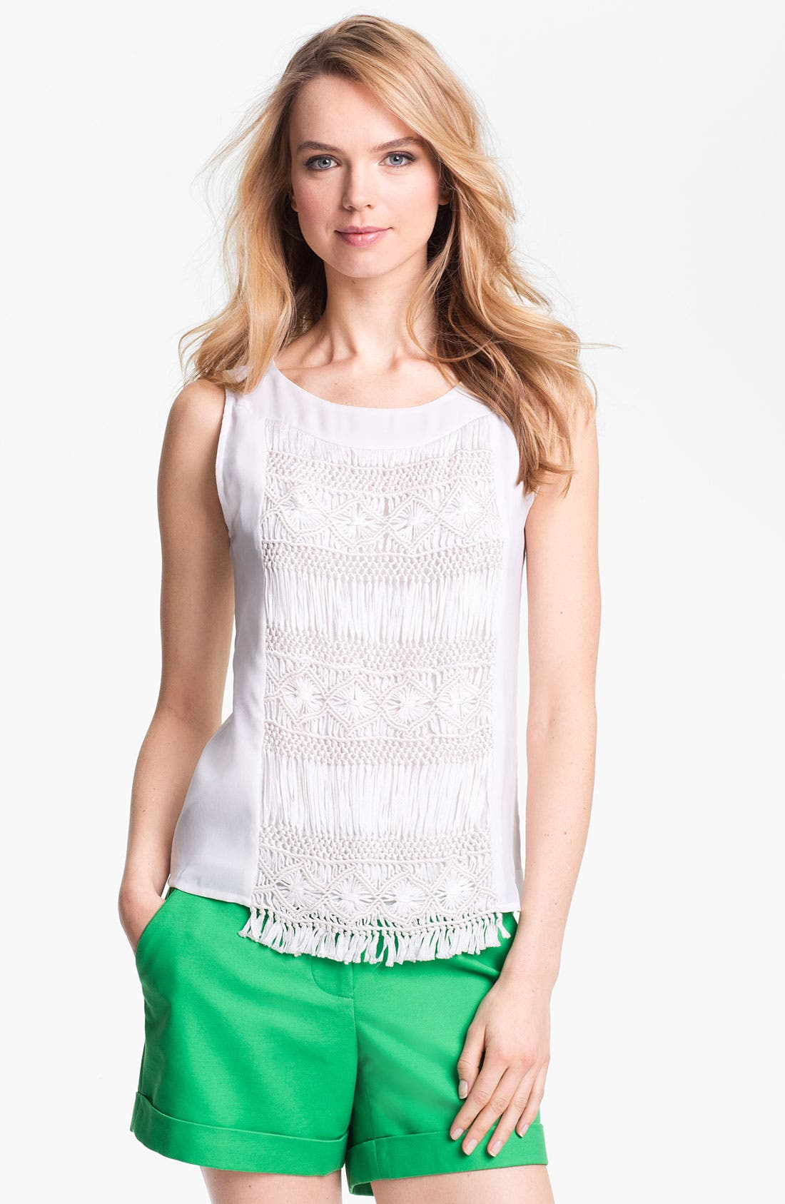 Alternate Image 1 Selected - Vince Camuto Macramé Front Top