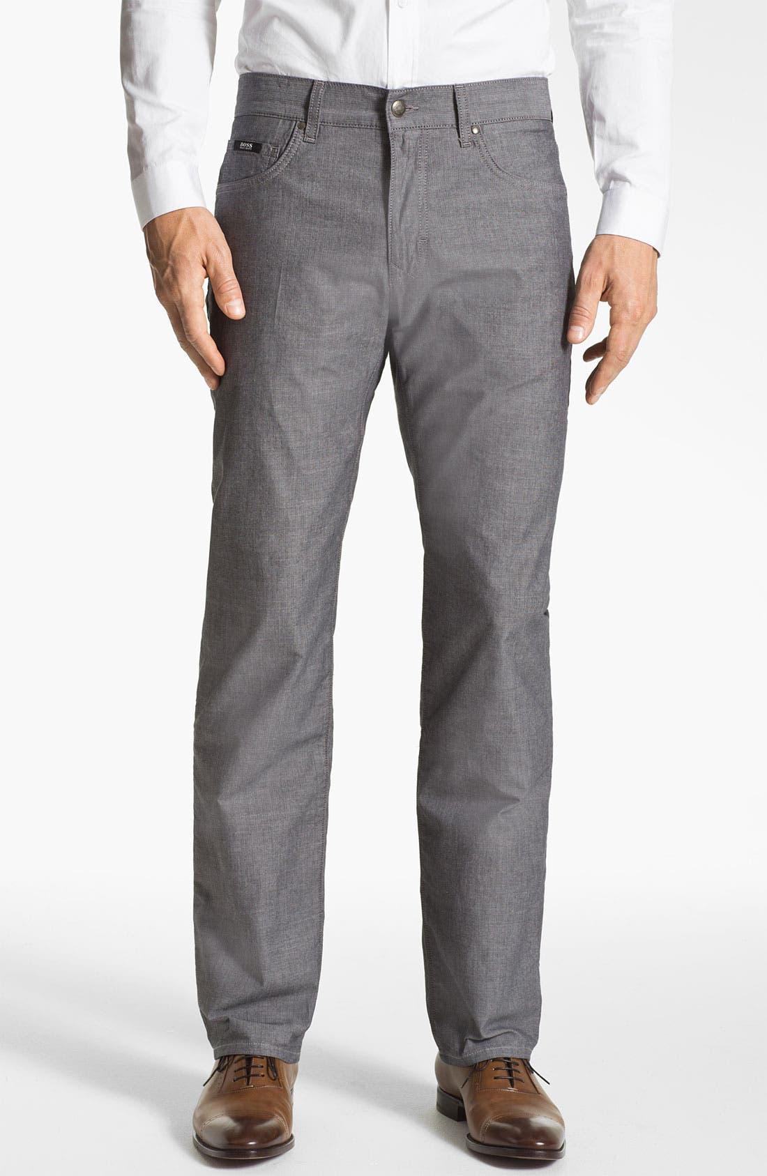Alternate Image 1 Selected - BOSS HUGO BOSS 'Kansas' Regular Fit Herringbone Pants