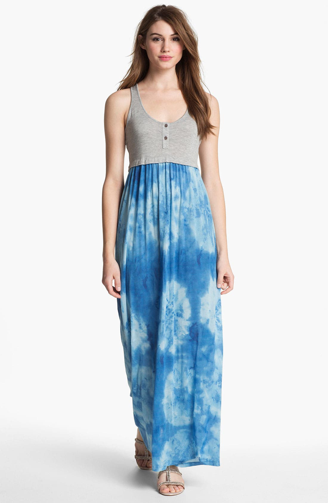 Main Image - Two by Vince Camuto Tie Dye Racerback Maxi Dress